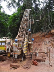 Drill rig at Aripuana