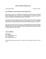 Karr Securities Inc. Increases Interest in Karmin Exploration Inc.