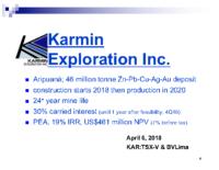 Corporate Presentation April 2018